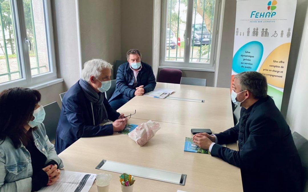 Le Député Pierre VENTEAU à la rencontre des adhérents FEHAP